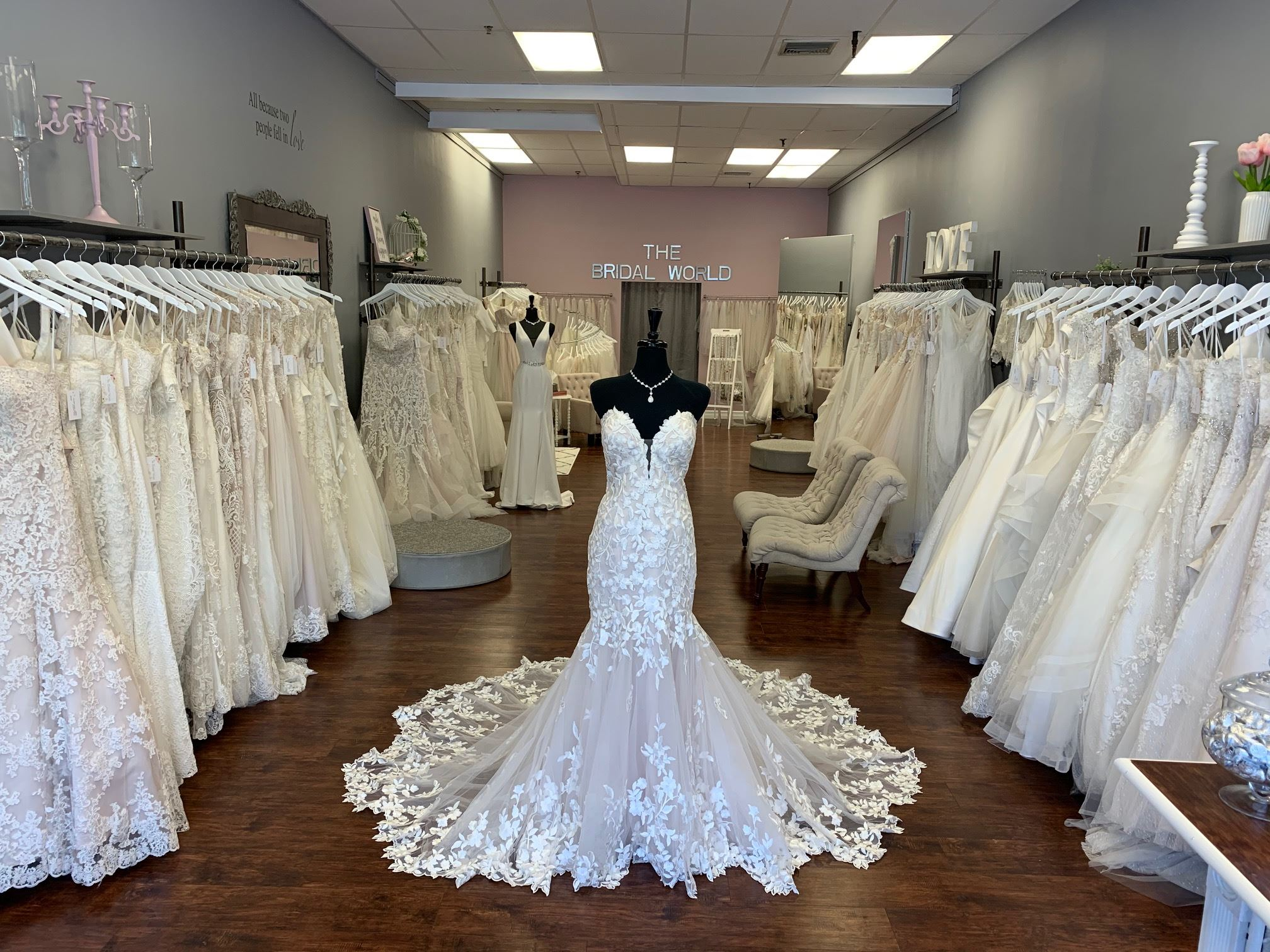Wedding Gowns in store and store front